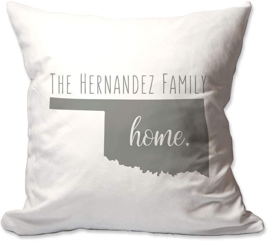 Pattern Pop Personalized State of Oklahoma Home Throw Pillow Cover - 17X17 Throw Pillow Cover (NO Insert) - Decorative Throw Pillow Cover - Soft Polyester