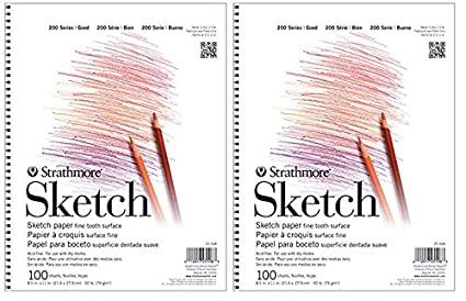 Strathmore STR-412-11 24 Sheet Toned Tan Sketch Pad 11 by 14