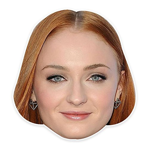 Unwelcome Greetings Sexy Sophia Turner Mask, Perfect for Halloween, Masquerades, Parties, Festivals, Concerts - Jumbo Size (Sophie The First Costume)