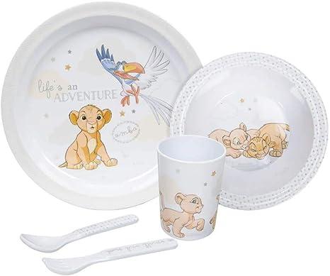 Disney Baby Magical Beginnings Simba 5 Piece Dinner Set