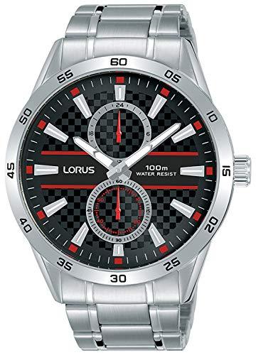 Sport Man Mens Analog Quartz Watch with Stainless Steel Bracelet - Lorus R3A35AX9