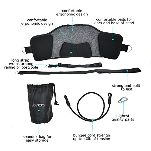 Bontata Neck Hammock Portable Cervical Traction Device for Relieves Head & Shoulder Pain in Less Than 10 Minutes. Comes with Bonus Eye Mask by Bontata (Image #2)