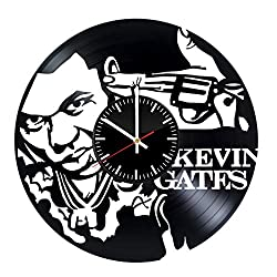 Kevin Gates Unique Wall Clock for bedroom, bathroom, kitchen, livingroom - gift idea for birthday, wedding, Mother's Day, Valentine's Day