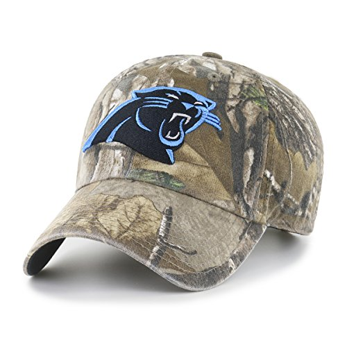 NFL Carolina Panthers Realtree OTS Challenger Adjustable Hat, Realtree Camo, One Size