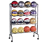 Champion Sports 16-Ball Steel Ball Storage Cart