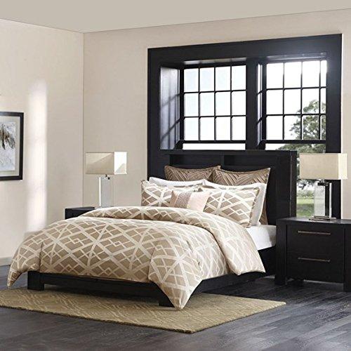 Metropolitan Home Kenmare Mini Comforter Set, Queen, Taupe