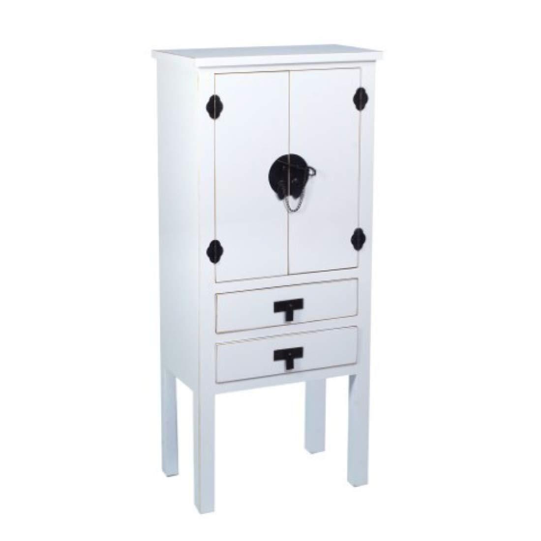 Vidal Regalos Kommodenschrank Retro, mit 2 Türen und 2 Schubladen, Holz, Weiss, 110 cm