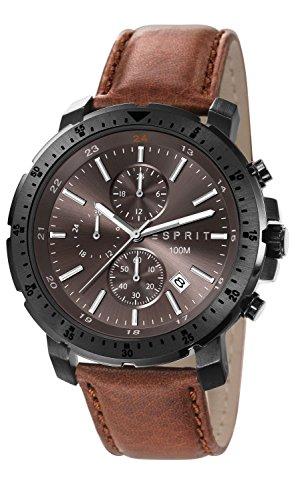 Esprit ES107521002 - Men's Watch, Leather, color:Brown