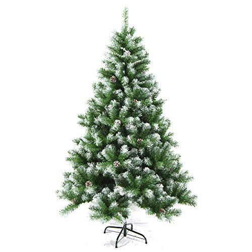 (ALEKO CT94H1250 Snow Dusted Artificial Holiday Christmas Tree with Pine Cones 8)