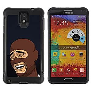 Hybrid Anti-Shock Defend Case for Samsung Galaxy Note 3 / LOL MEME Laughing Face