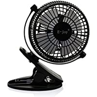 Winkeyes 360° Rotatable USB Clip Desk Fan Personal Table Fans Desktop Clip on Strong Wind Fan Electronic Cooling fan Powered by USB