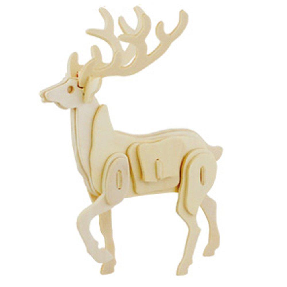 3dパズル木製モデル、子供の教育玩具(鹿)   B00VHJYGLW