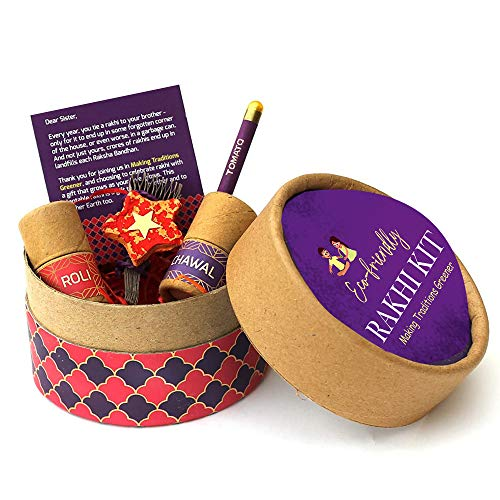 Gadgets Appliances Eco-Friendly Rakhi Kit Plantable & Biodegradable Rakhi Box Contain 1 Rakhi 1 Pencils Roli Chawal Special Gift Box for Brother Make In India