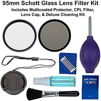 Includes: Schott Glass Protector and CPL Lens Filter Set Lens Cleaner Kit Lens Cap Sunset Foto 58mm Lens Filter and Accessory Kit