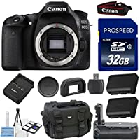 Canon EOS 80D Digital SLR Camera Body Kit 33rd Street Bundle with Extra Battery + Deluxe Power Grip + Deluxe Camera Case + 32GB Memory Card + 10pc Accessory Bundle Basic Intro Review Image