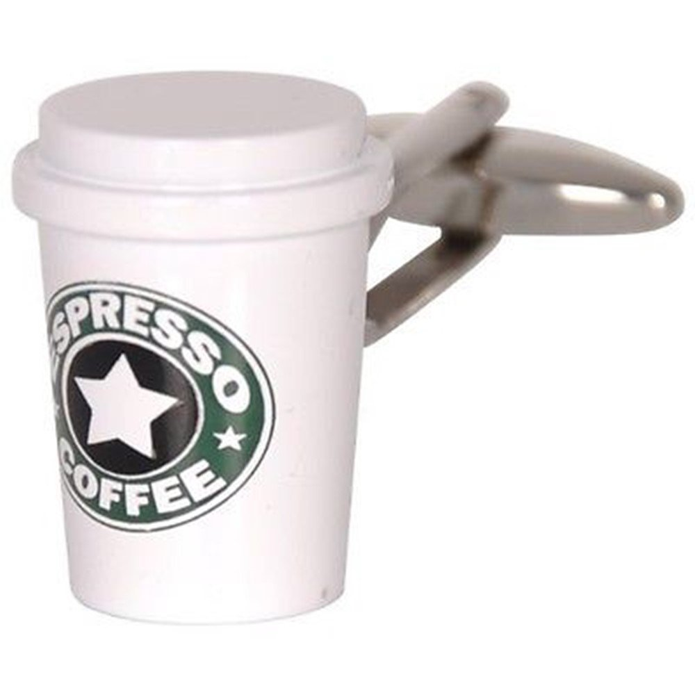 Espresso Coffee Cup Cufflinks Morning Office Gift + Free Box & Cleaner Procuffs