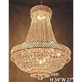"""French Empire Crystal Chandelier Chandeliers Lighting H34"""" X W27"""""""