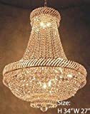 Cheap French Empire Crystal Chandelier Chandeliers Lighting H34″ X W27″