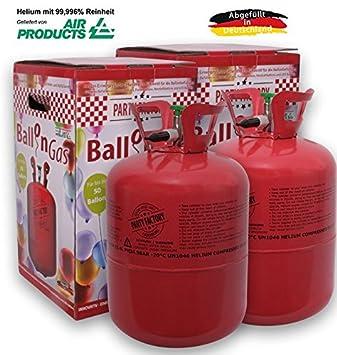 Party Factory Ballongas Helium Für 100 Luftballons Xxl Set Inkl 100