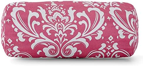 Majestic Home Goods Hot Pink French Quarter Indoor Round Bolster Pillow 18.5 L x 8 W x 8 H