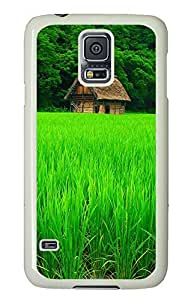 Samsung Galaxy S5 Green Plants And Cottages PC Custom Samsung Galaxy S5 Case Cover White