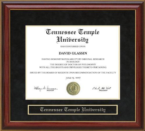Wordyisms Tennessee Temple University Diploma Frame - Mahogany