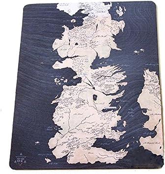 Juego de alfombrilla de ratón de juego de tronos una canción de hielo y fuego de mapa de Westeros Mapa alfombrilla de ratón la puesta del sol Reinos Mapa: Amazon.es: Juguetes y