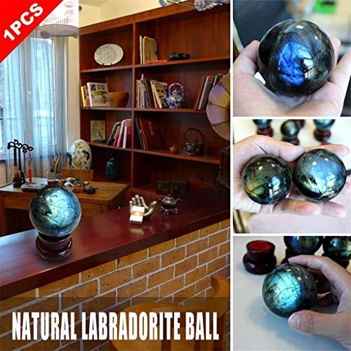 (️ Yu2d ❤️❤️ ️Natural Labradorite Rose Quartz Amethyst Sphere Crystal Ball Healing Citrine)