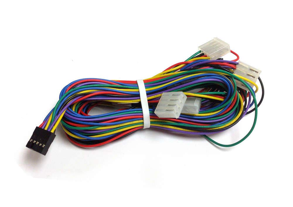 amazon com: atomic market arcade trackball wiring harness interface  compatible w/game elf 412 in 1 & more: sports & outdoors