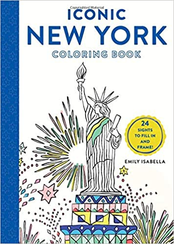amazon iconic new york coloring book 24 sights to fill in and