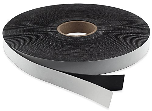 Master Magnetics Flexible Magnet Strip with Adhesive Back , 1/16 Thick, 1 Wide, 50 feet (1 Roll)