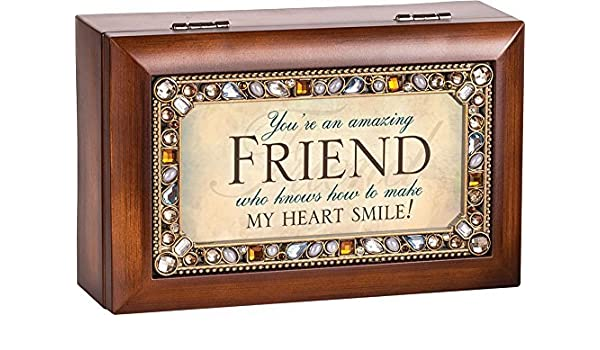 Youre an Amazing Friend Jeweled Jewelry Music Musical Box Plays Tune Thats What Friends Are For by Cottage Garden: Amazon.es: Hogar