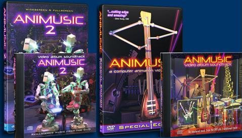 Animusic 4 disk Set DVD #1/#2 CD #1/#2