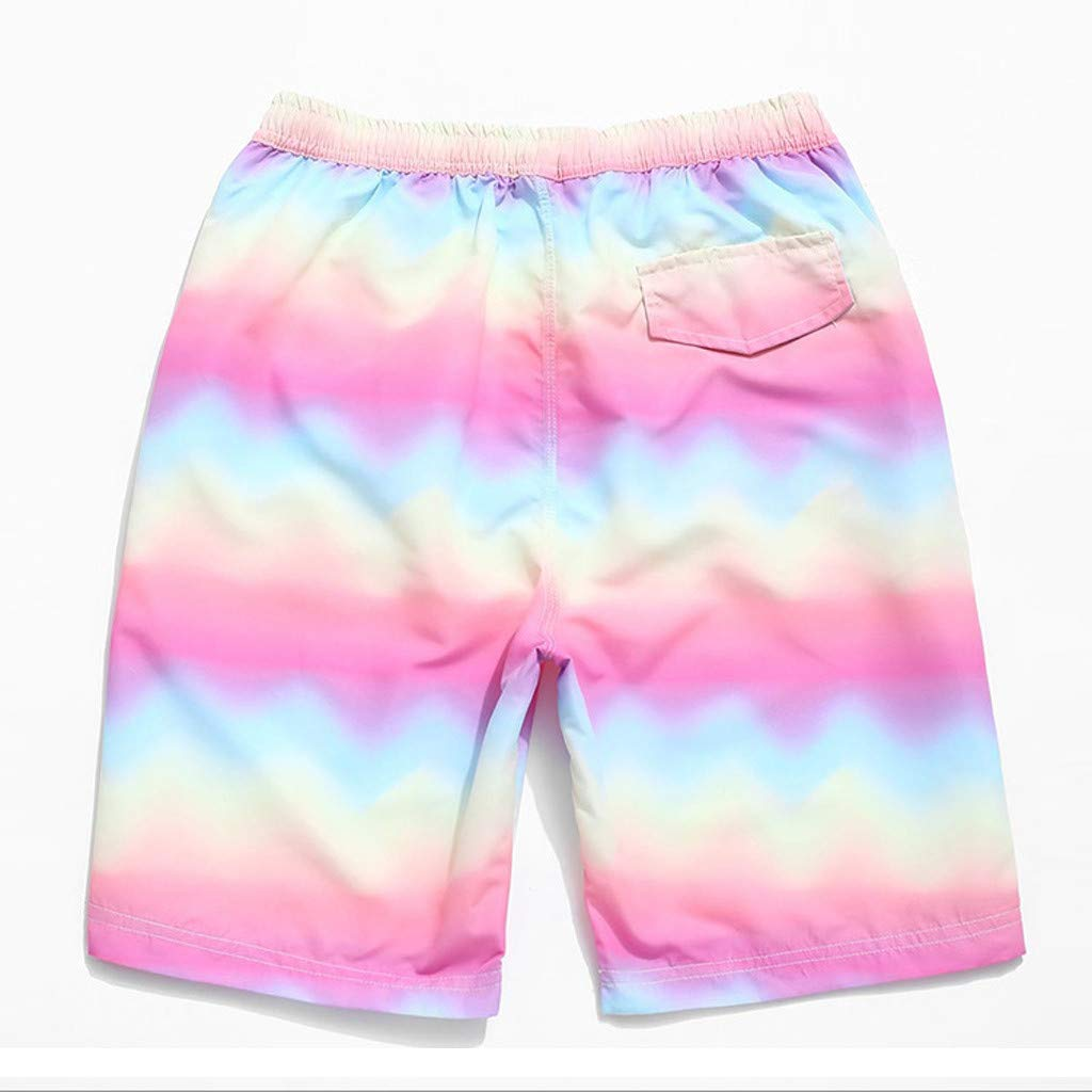 NUWFOR Fashion Men Casual Star Printed Beach Casual Men Short Trouser Shorts Pants(Multicolor,US S Waist:30.71'') by NUWFOR (Image #2)