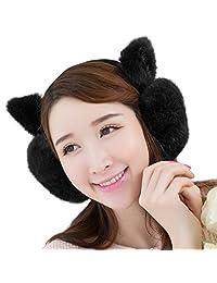 Winter Cute Cat Kitten Ear Warmer Earmuffs Faux Fur Plush Ear Cover For Girls Women