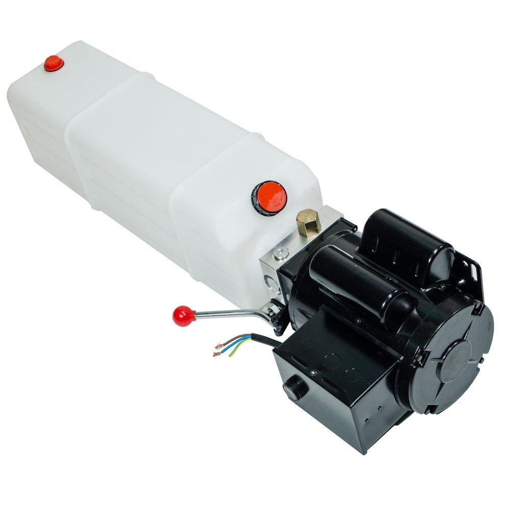 Mophorn 110V 50HZ Car Lift Hydraulic Power Unit 13 Quart 3.43 Gallon 3HP Auto Hoist Lift Power Unit Automotive Hydraulic Pump Dump Trailer Vehicle Mounted Lift Two and Four Post Lifts Auto Hoist Unit