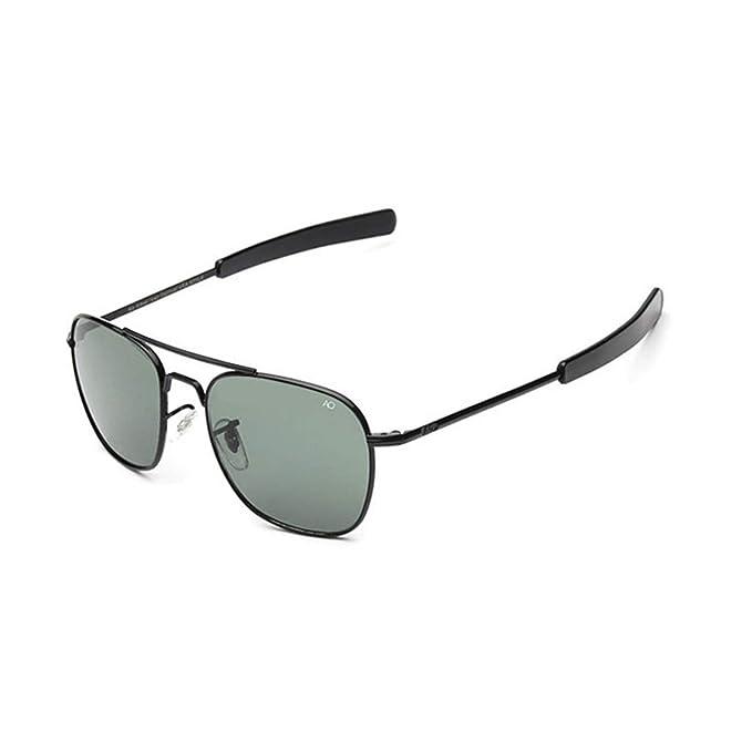 AOCCK Gafas de sol Pilot Sunglasses American Optical Glass Lens Sun Glasses Oculos De Sol Masculino