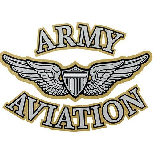 Aviation Decal - U.S. Army Aviation With Aviator Wings Clear Decal
