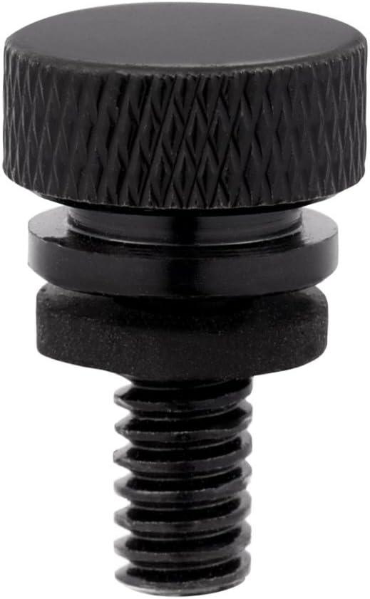 SING F LTD Motorcycle Seat Fastening Bolt Black Aluminum Billet CNC 6mm Thread Dia Rear Seat Mount Screws 2 Pcs