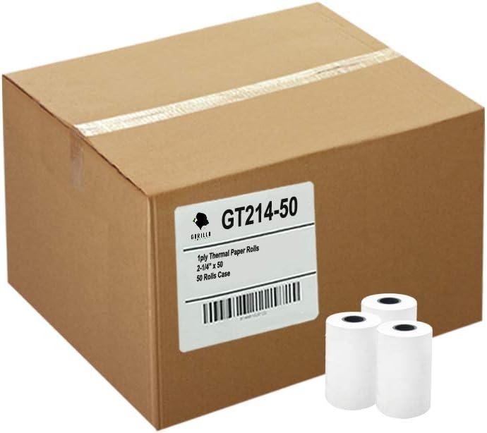 Credit//Debit Rolls White 50//CT 2-Ply Sold as 1 Carton 2-1//4x70