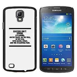 "Be-Star Único Patrón Plástico Duro Fundas Cover Cubre Hard Case Cover Para Samsung i9295 Galaxy S4 Active / i537 (NOT S4) ( El éxito inspirador mensaje de texto minimalista"" )"