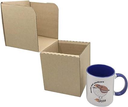 Caja de Cartón para Tazas 12,3 x 12,3 x 13,5 cm (Paquete de