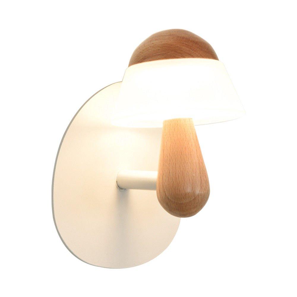 Wandleuchte,Nachttischlampe moderne Schlafzimmer Wohnzimmer Wand Korridor Massivholz Dekoration Wand Lampe