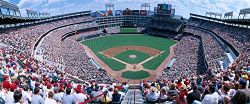 Posterazzi PPI160709S Baseball Stadium Rangers v. Baltimore Orioles Dallas Texas Poster Print, 27 x 9