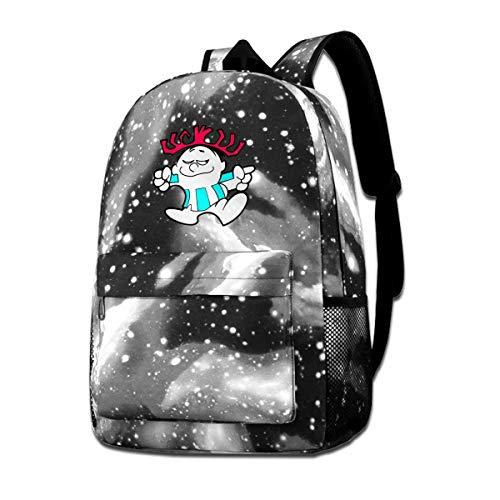 Ha-waii Sign Pun-ch Star Sky Shoulder Bag Unisex Backpack Student Bookbags For Big Boys Girls