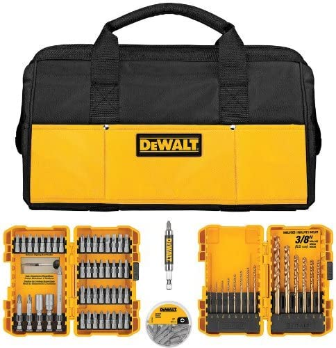 Dewalt – DWLOBAG4 – 80-Piece Drilling Driving Utility Set INCLUDES FREE CONTRACTOR BAG Drill Driver