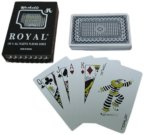 One Blue Deck- Royal Plastic Playing Cards w/Star Pattern (Deck One Pattern)
