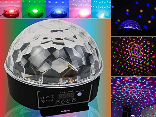 NICE Disco Magic Ball DMX512 Stage Lighting Digital LED RGB Crystal DJ Effect Light (Las Vegas Costume Rental)