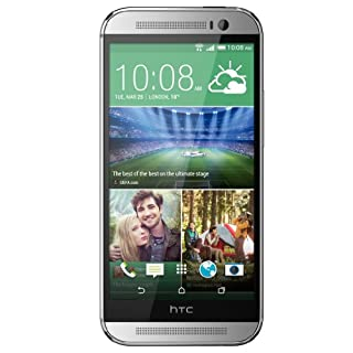 HTC One M8 UK Sim Free (GSM Only, No CDMA) Factory Unlocked Smartphone - (Glacial Silver)