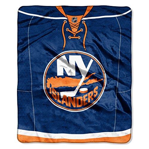 Officially Licensed NHL New York Islanders Jersey Plush Raschel Throw Blanket, 50' x 60'